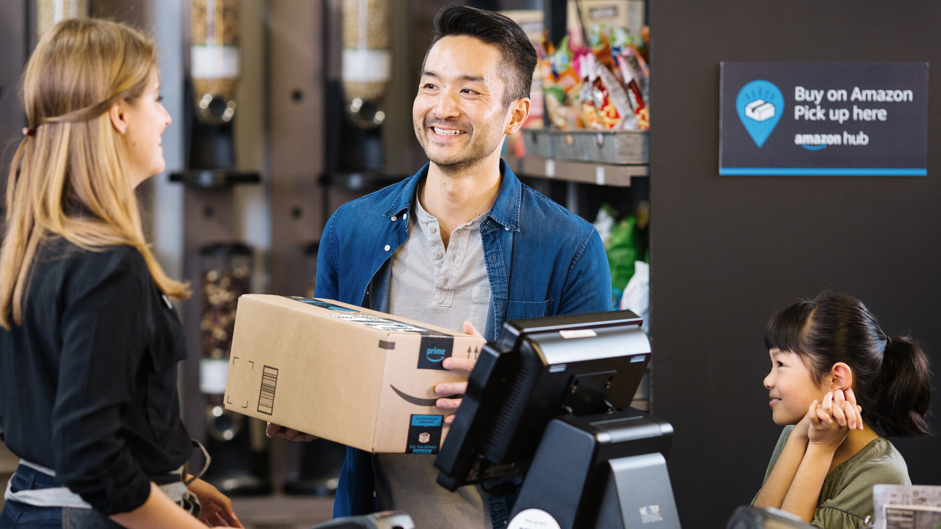 "Amazon's new ""Counter"" service lets customers pick up packages in staffed retail locations"